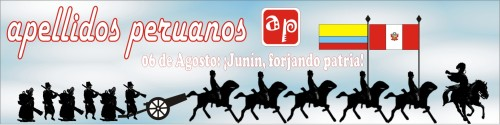 logotipo de apellidos peruanos 6 de agosto 2009