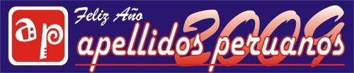 Logotipo de Año Nuevo de Apellidos Peruanos