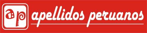 Logotipo rojo de Apellidos Peruanos