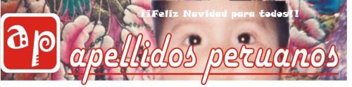 Logotipo de diciembre de Apellidos Peruanos