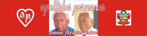 Logotipo de apellidos peruanos mes de junio 2009 dia del padre