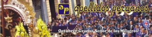 Logotipo de Apellidos Peruanos octubre 2009