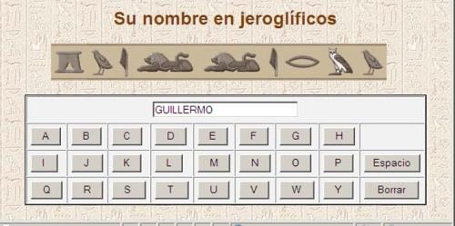 Guillermo en jeroglíco egipcio