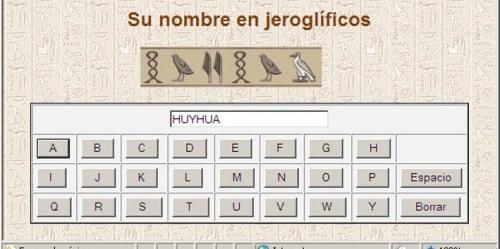 Huyhua en jeroglífico egipcio