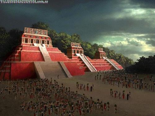 La población maya (imaginario)