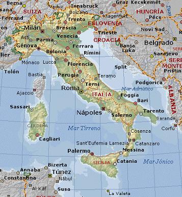 Mapa Del Norte De Italia Y Suiza.La Tierra De La Pasta 2010