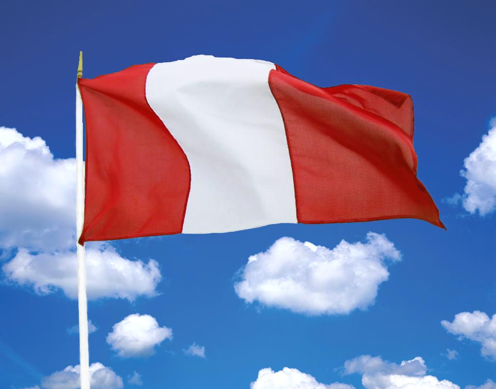 bandera peruana flamenado